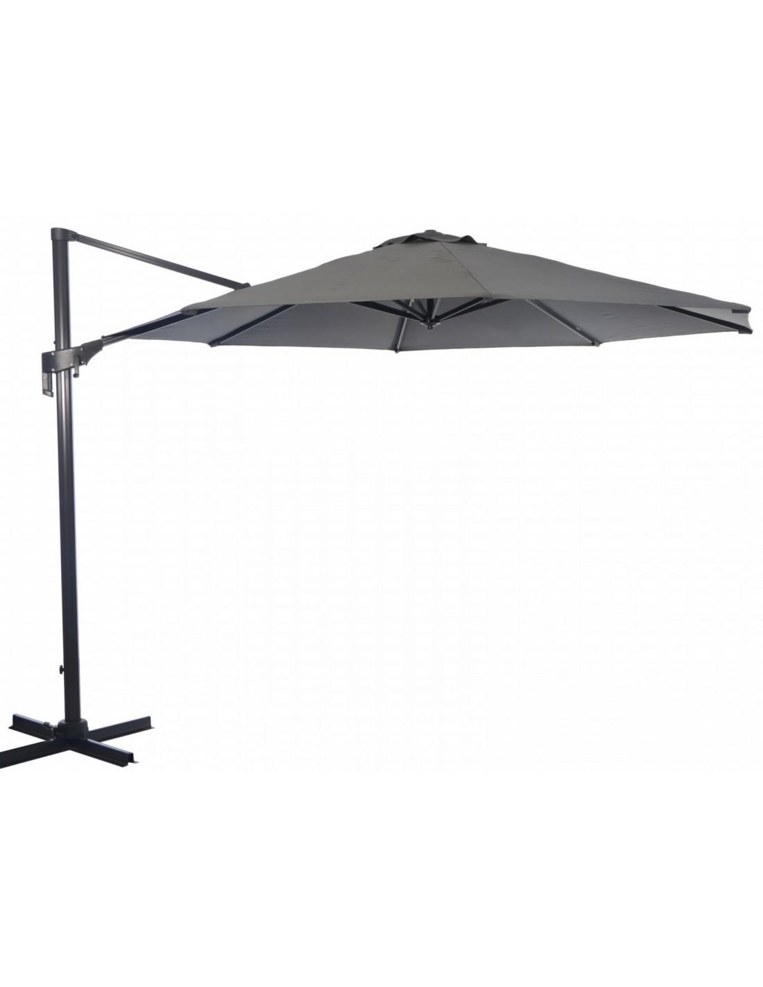 parasol d port m nh grey rotatif et inclinable. Black Bedroom Furniture Sets. Home Design Ideas
