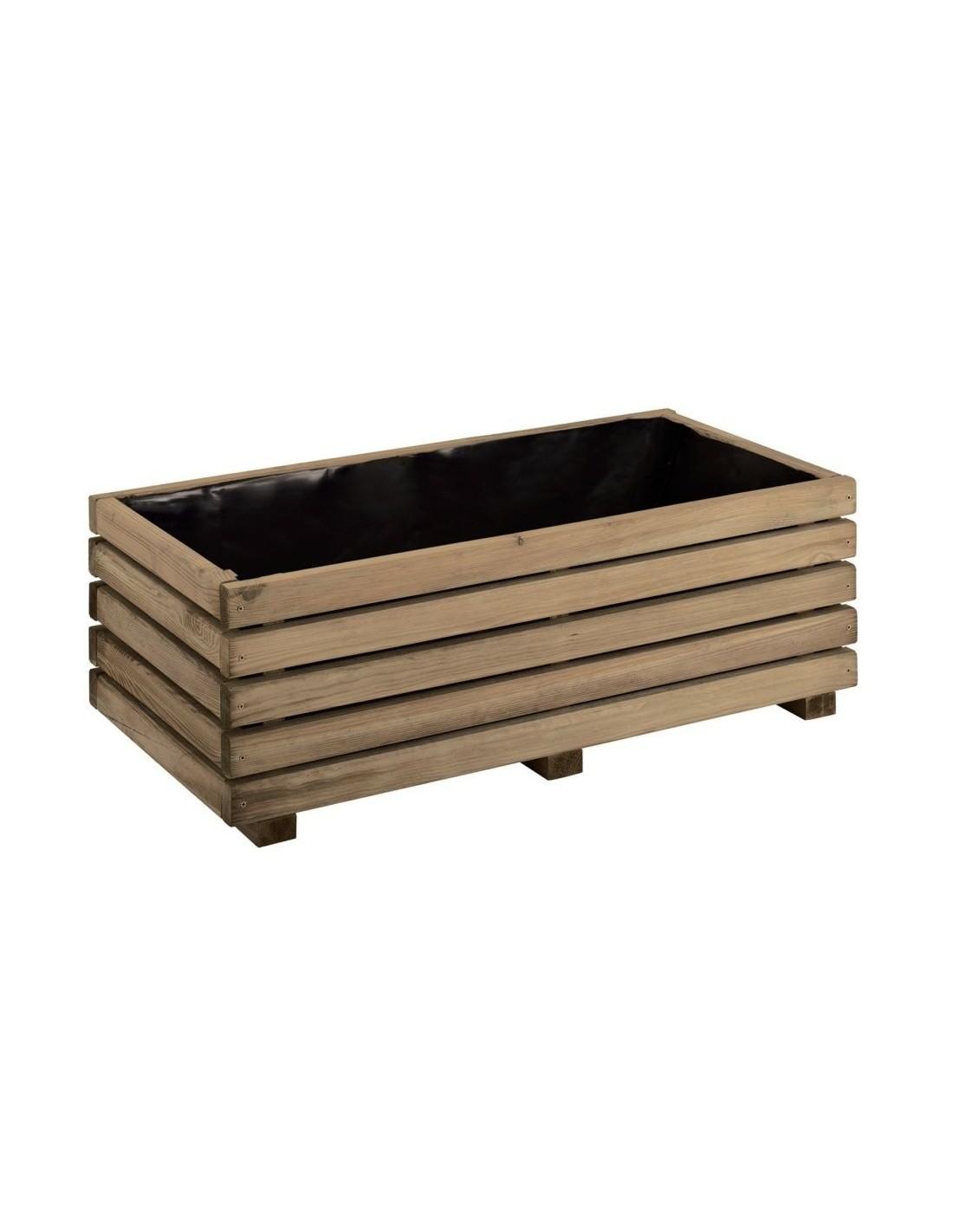 Jardini re k b 40x80 cm jardipolys bois trait autoclave for Jardiniere en bois pour potager