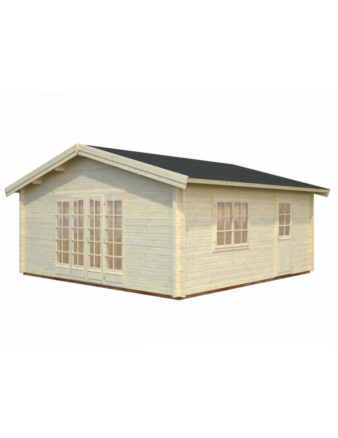Abri de jardin irene 30 m avec plancher bois massif 70 mm for Abri de jardin en bois avec plancher