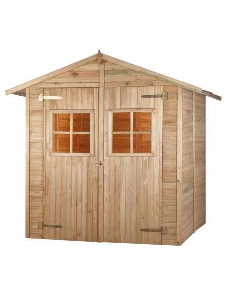 Abri de jardin combloux trait avec plancher 3 9 m - Abri de jardin avec plancher ...
