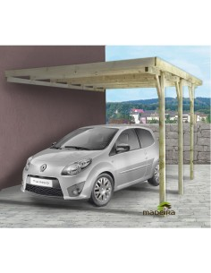Carport Marenello 15 m² pour une voiture - Poteaux traités 9x9 cm