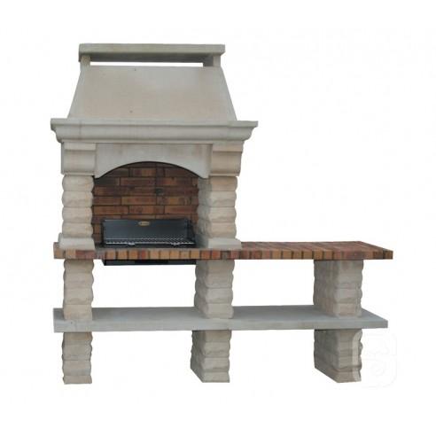barbecue rustique en pierre reconstitu e avec 1 ou 2. Black Bedroom Furniture Sets. Home Design Ideas