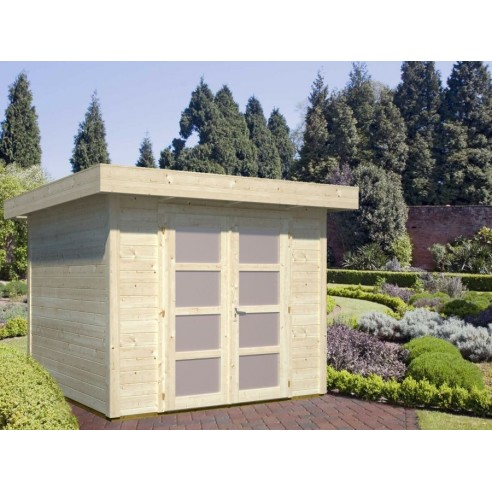 Abri de jardin Lara 6.25 m² - Bois massif 28 mm
