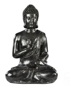 Bouddha hindou H.40.5cm Anthracite ou pierre - Grandon