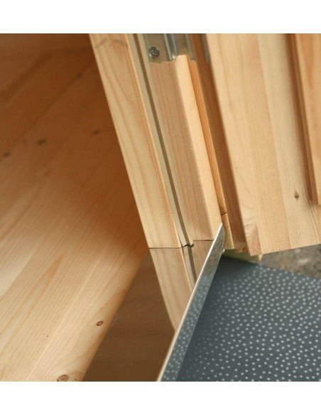 Abri de jardin Lara 6.25 m² en bois massif 28 mm