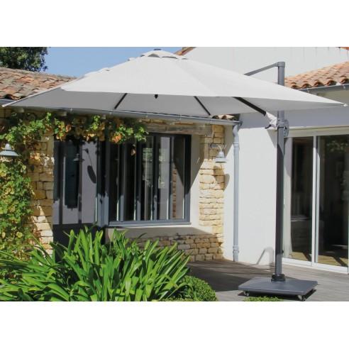 parasol d port grey 3x3 m nh inclinable et rotatif. Black Bedroom Furniture Sets. Home Design Ideas