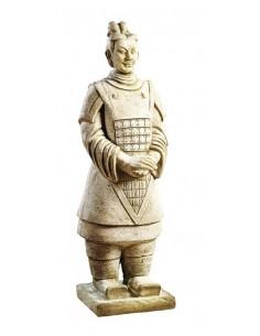 Statue Guerrier Chinois Xian H.56cm en pierre reconstituée - Grandon