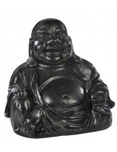 Statut Bouddha chinois rieur H.35 cm en pierre reconstituée - Grandon
