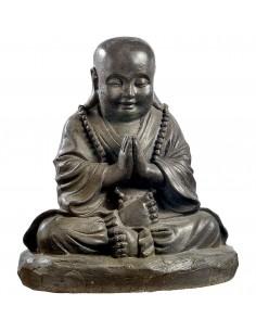 Statue Moine assis H.36 cm en pierre reconstituée - Grandon