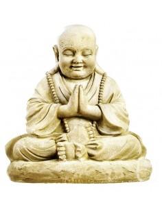Statue Moine assis H.53 cm en pierre reconstituée - Grandon
