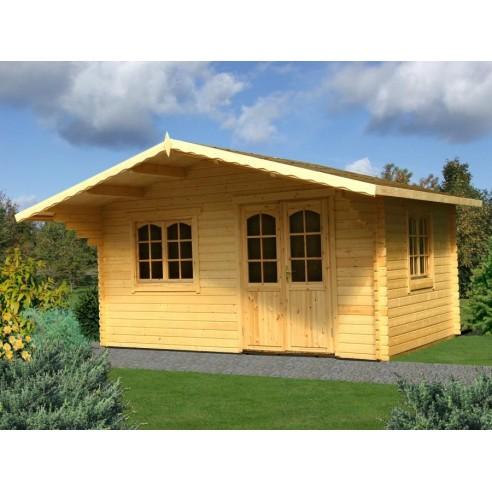 Abri de jardin sally 19 9 m avec plancher bois massif 44 mm - Abri de jardin en bois avec plancher ...