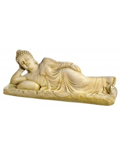Statue Bouddha couché L.72 cm en pierre reconstituée - Grandon
