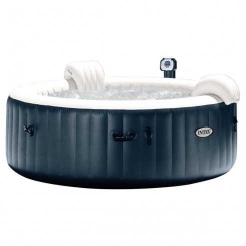 Spa Gonflable Intex Pure Spa Bulles Led 6 Places Blue Navy