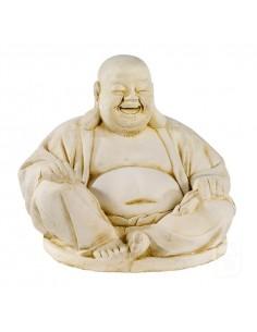 Statue Bouddha Chinois H.41 cm en pierre reconstituée - Grandon