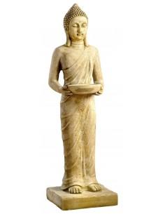 Statue Bouddha debout H101 cm en pierre reconstituée - Grandon