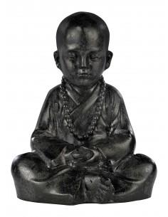 Statue Moine assis H.23 cm en pierre reconstituée - Grandon