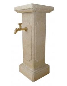 Fontaine Menestrel en pierre reconstituée ton Patiné Vieilli - Grandon