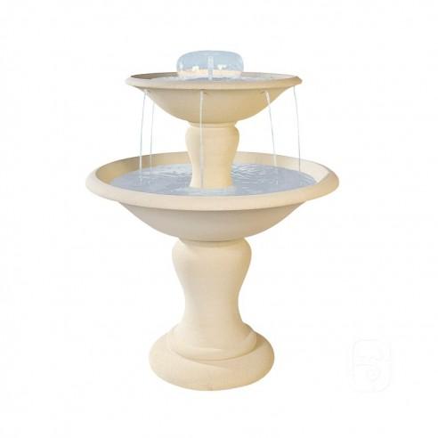 Fontaine centrale 710 à 2 coupes en pierre reconstituée - Grandon
