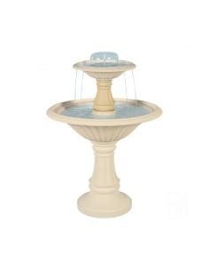 Fontaine centrale 900 à 2 coupes en pierre reconstituée - Grandon