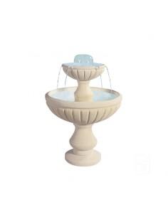 Fontaine centrale 990 à 2 coupes en pierre reconstituée - Grandon