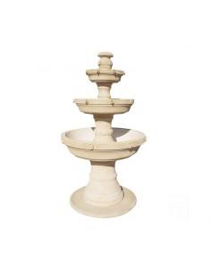 Fontaine centrale Dora ocre à 3 coupes en pierre reconstituée - Grandon