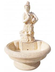 Fontaine centrale Diana ocre en pierre reconstituée - Grandon