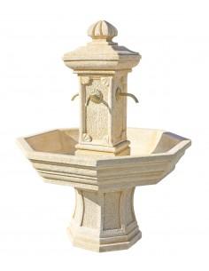 Fontaine centrale Adonis ocre en pierre reconstituée - Grandon
