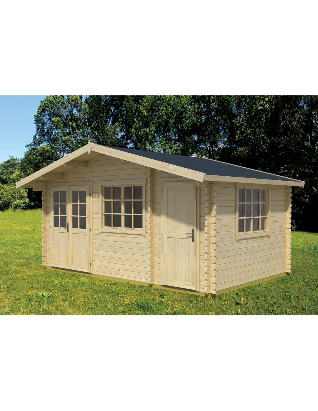 Abri de jardin borkum 15 2 m avec plancher bois massif 40 mm - Abri de jardin avec plancher ...