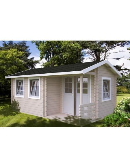 Abri de jardin Susanna 15.3 m² avec plancher - Bois massif 44 mm