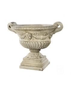 Vasque Renaissance H.54 cm en pierre reconstituée Ciré noir ou ton vieilli - Grandon