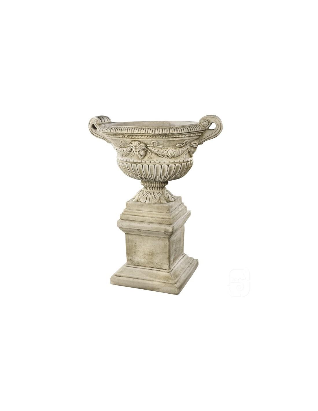 vase socle renaissance cm en pierre reconstitu e grandon. Black Bedroom Furniture Sets. Home Design Ideas