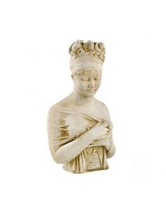 Statue Buste de femme H.60 cm en pierre reconstituée - Grandon