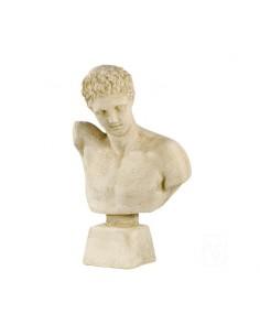 Buste d'homme Hermès H.60 cm en pierre reconstituée - Grandon