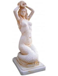 Statue Sirène jet d'eau H.70 cm en pierre reconstituée - Grandon