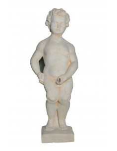 Statue Manneken pis  Jet d'eau H.75 cm en pierre reconstituée - Grandon