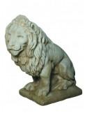 Lion à droie H.90 cm en pierre reconstituée - Grandon
