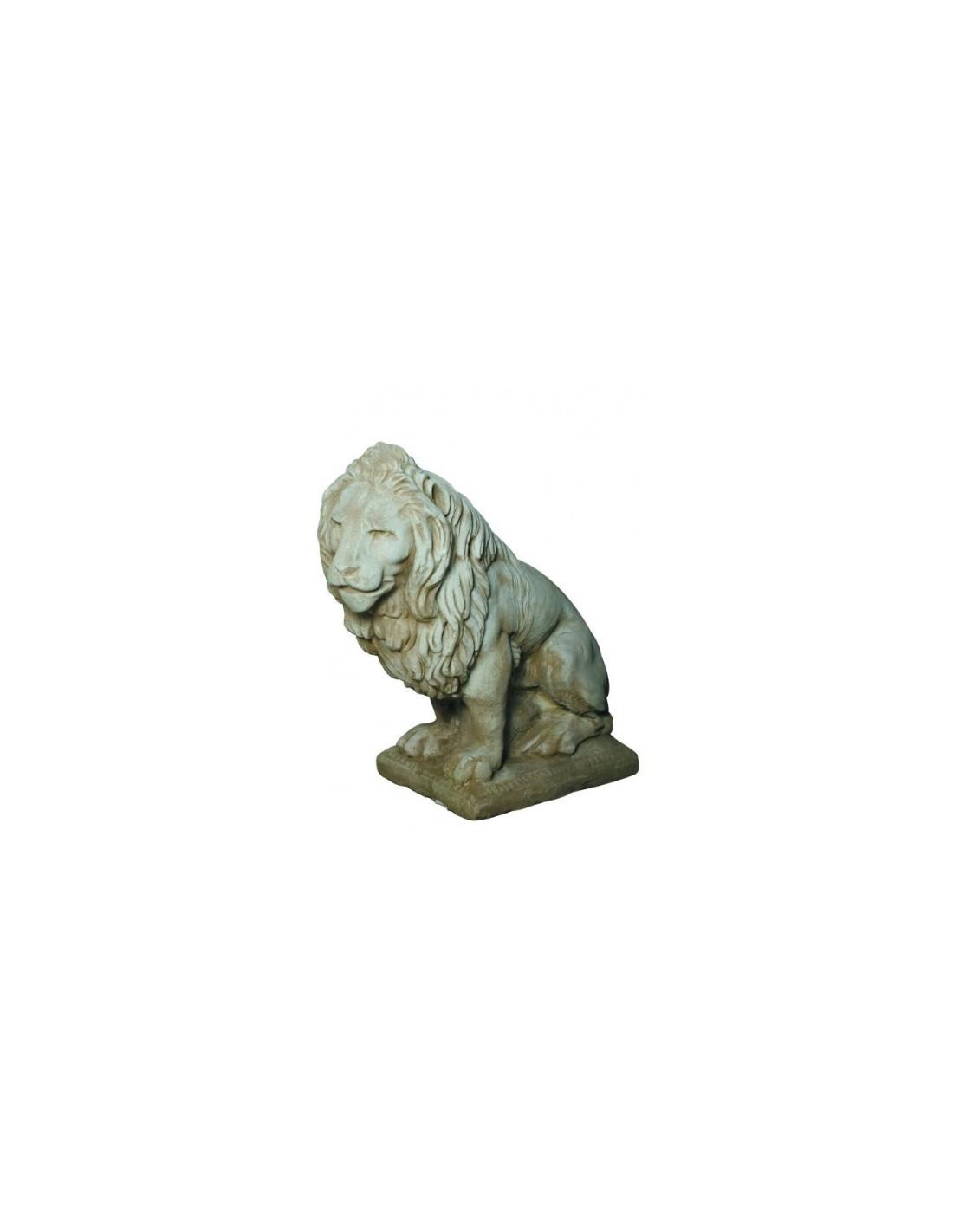 Lion Droite Cm En Pierre Reconstitu E Grandon