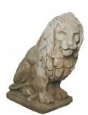 Lion à gauche H.90 cm en pierre reconstituée - Grandon