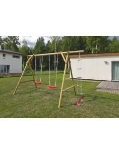 Portique bois MAGNUS bois 2.30 m - Enfants 3/12 ans