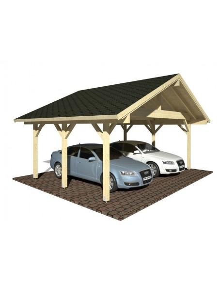 Carport Robert 32.4 m² avec poteaux 12x12 lamellé-collé