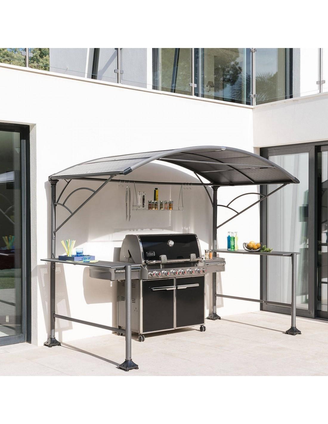 abri barbecue plancha neiba x1 5 m acier graphite hesp ride. Black Bedroom Furniture Sets. Home Design Ideas