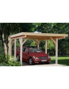 Carport Karl 18.4 m² pour une voiture - Poteaux 12x12 bois lamellé-collé
