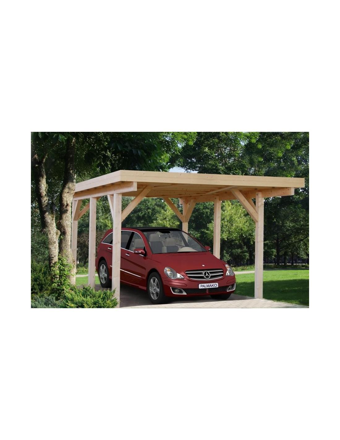 carport karl 18 4 m pour une voiture poteaux 12x12 lamell coll. Black Bedroom Furniture Sets. Home Design Ideas