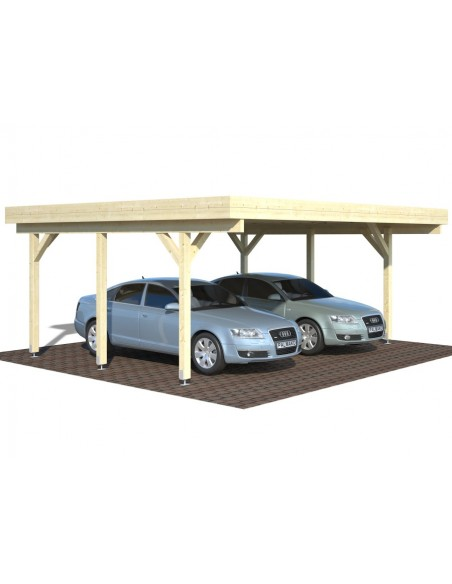 Carport Karl 30 m² - Poteaux 12x12 bois lamellé-collé