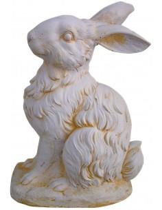 Lièvre H. 42 cm en pierre reconstituée - Grandon