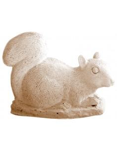 Ecureuil couché H.18 cm en pierre reconstituée - Grandon