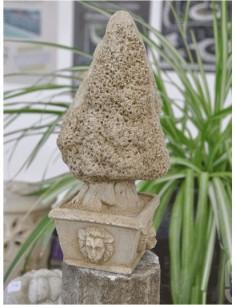 Sapin H.32 cm en pierre reconstituée - Grandon
