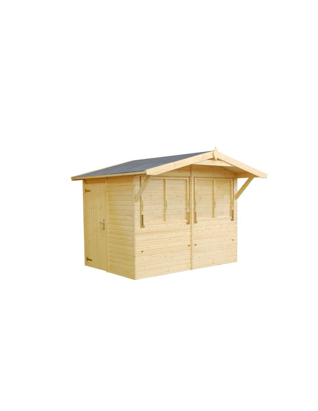 Abri de jardin stella 5 2 m style buvette bois massif 16 mm for Kioscos de madera baratos