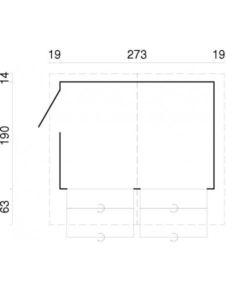 Abri de jardin Stella 5.2 m² style buvette en bois massif 16 mm