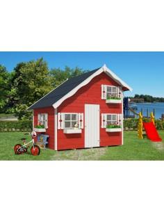 Maisonnette Tom pour enfants avec plancher